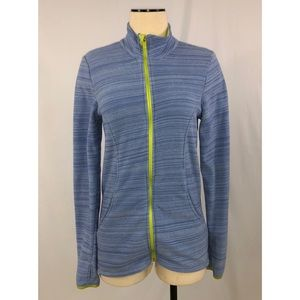 Marika Tek Athletic Zip Front Fleece Blue Green